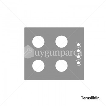 Ankastre Ocak Üst Camı - YM804.12501.16