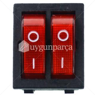 2'li Işıklı Kırmızı Fırın Şalteri - S37300111
