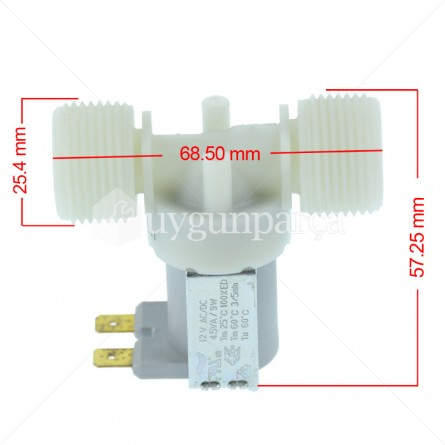 Bulaşık - Çamaşır Makinesi Su Giriş Vanası (Ventili) - 12V 1inc